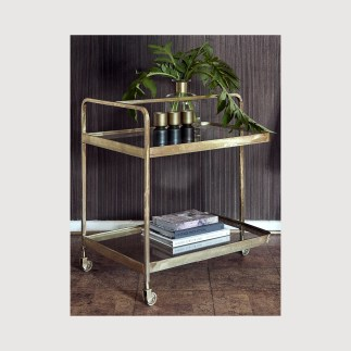 Brass Bar Cart Cocktail Trolley