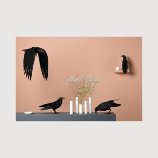 ibride,raven, decorative birds, house of sloane