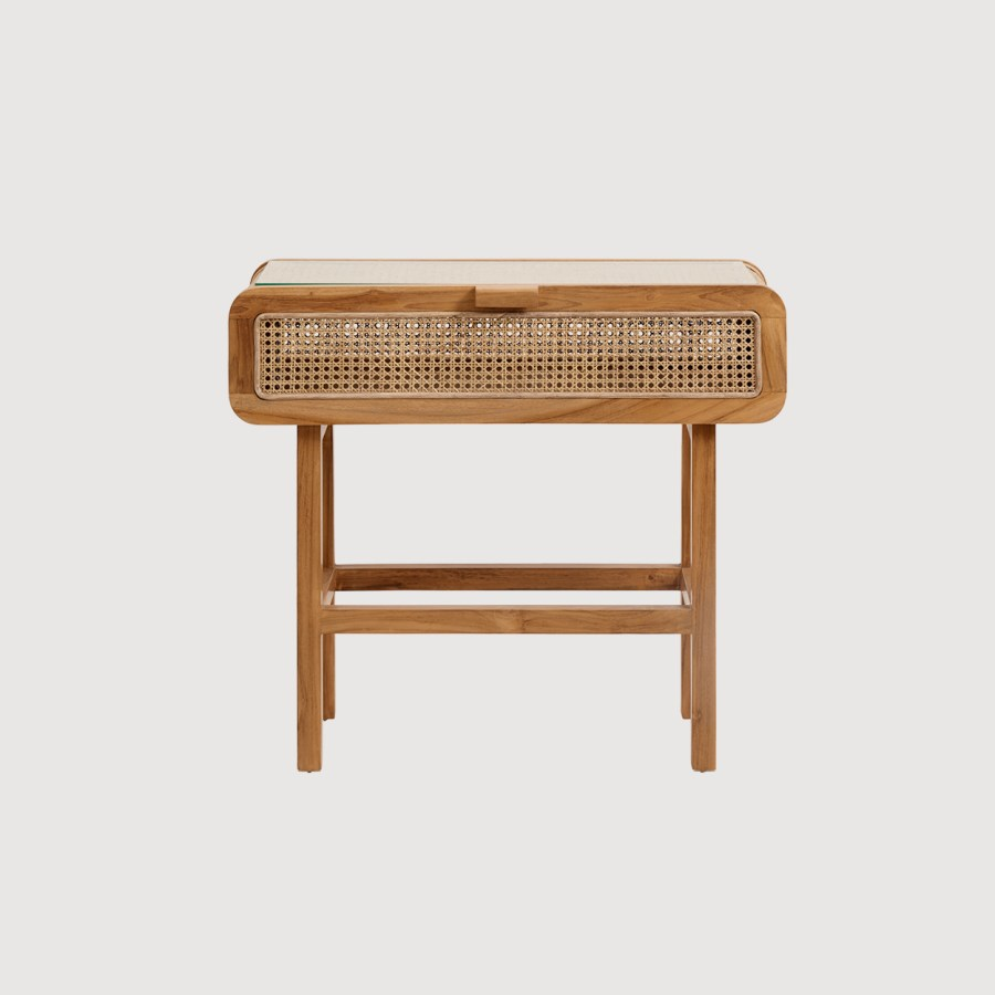 Davey Teak and Cane Console Table gallery image