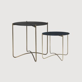 Glass Brass Side Table