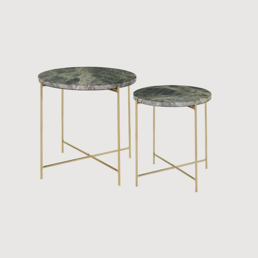 Freja Marble Tables – Forest Green gallery image