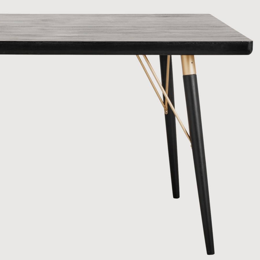 Fern Black and Gold Dining Table gallery image
