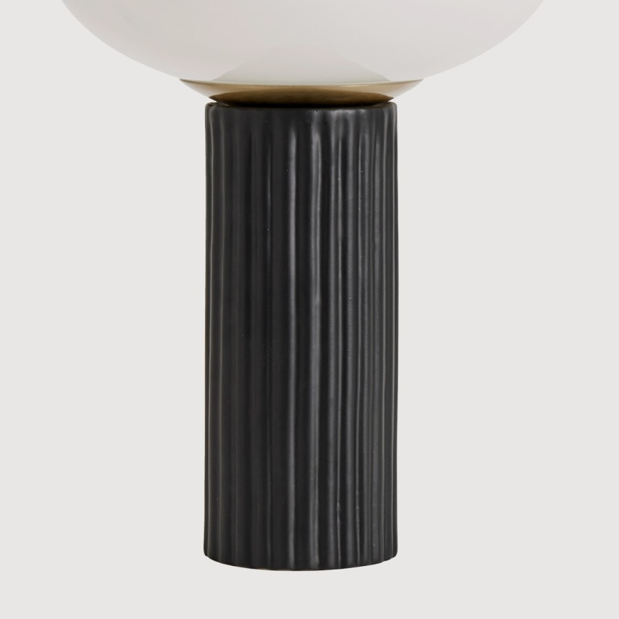 Opal Table Lamp with Black Ceramic Base gallery image