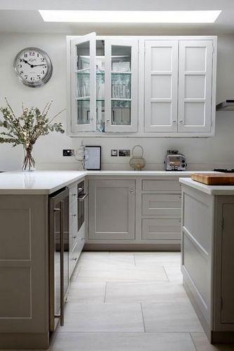 tile kitchen floor hutch dark or light floors white