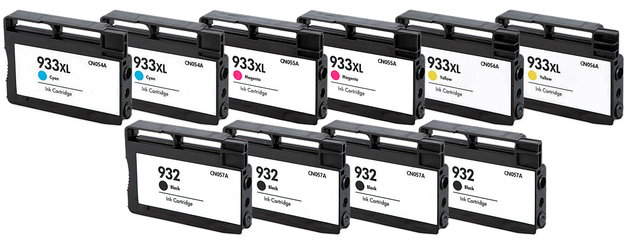 10PK 932 933 XL CN057 CN054 CN055 CN056 Ink for HP