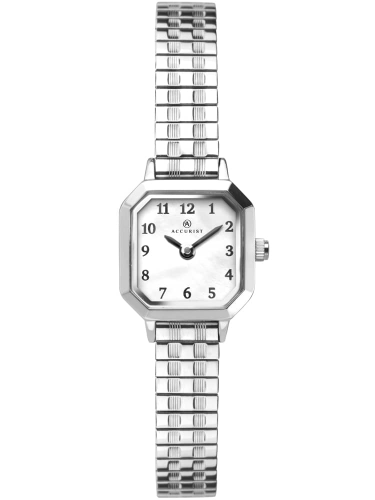 Accurist Ladies Stainless Steel Octagon White Dial