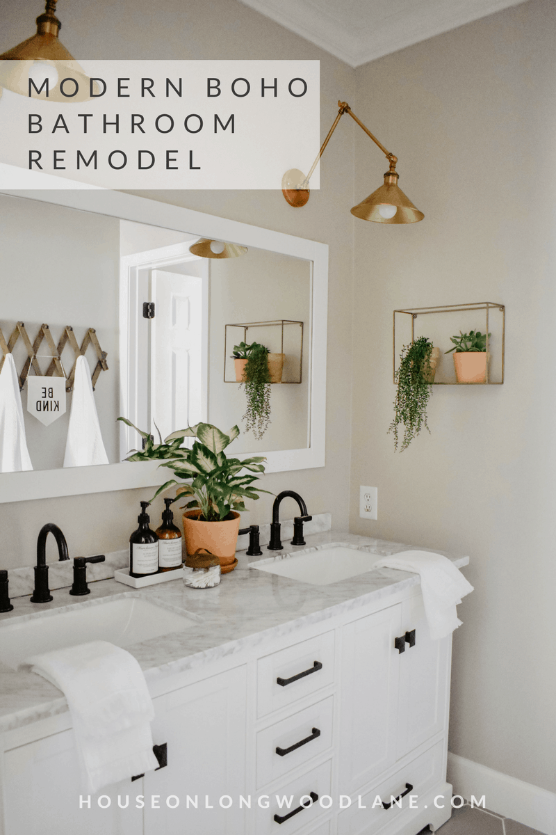 Modern Boho Bathroom Remodel House On Longwood Lane