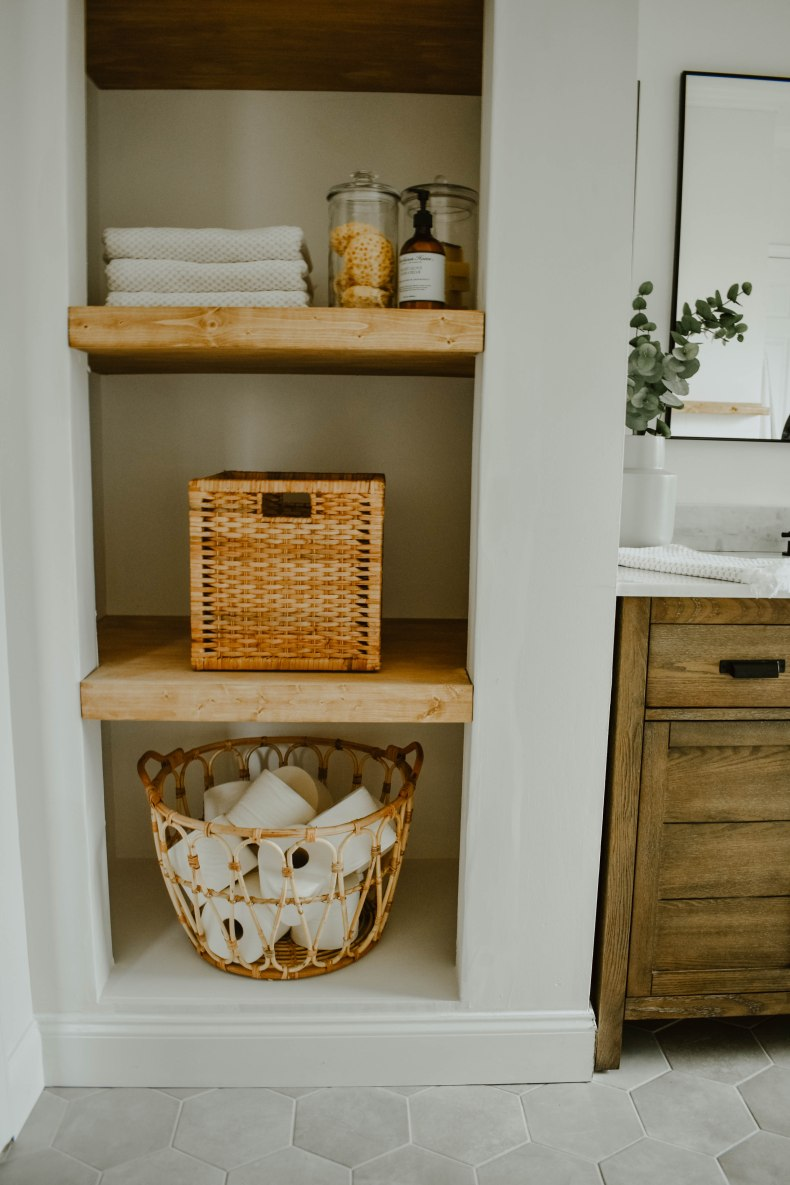 How To Transform A Linen Closet To Open Shelving House On Longwood Lane