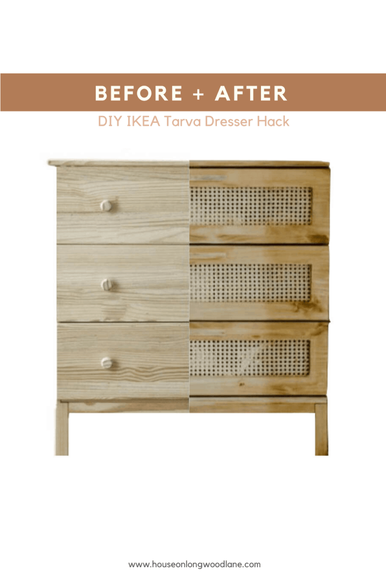 Diy Cane Dresser Ikea Tarva Dresser Hack House On Longwood Lane