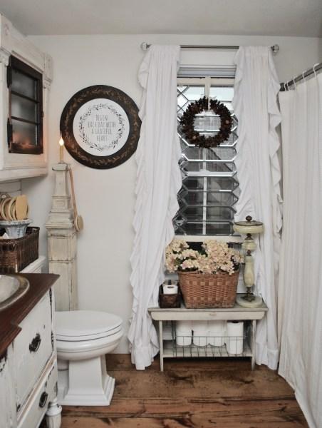 Bathroom Reveal Leaded glass window