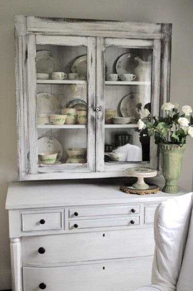 Master bedroom reveal - china cabinet in bedroom