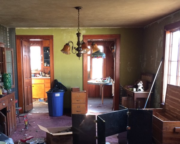 Dining Room mid-hoard clean-up - House on Winchester