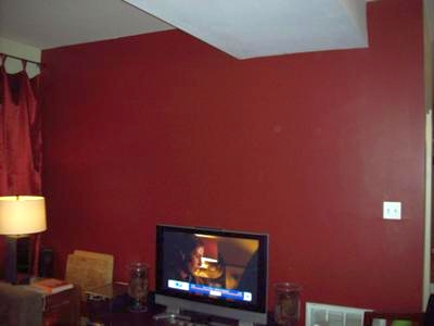living room wall paints what kind of paint finish for brick red feature in our painted a deep color