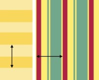 How to Measure a Pattern Repeat for Wall Stripes
