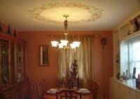 Stenciled Ceiling / Light Border in Dining Room