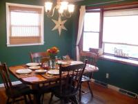 Country Dining Room Painting Idea: Hunter Green Wall Color