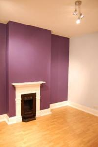 Rich Violet Colour Feature Wall in My Bedroom