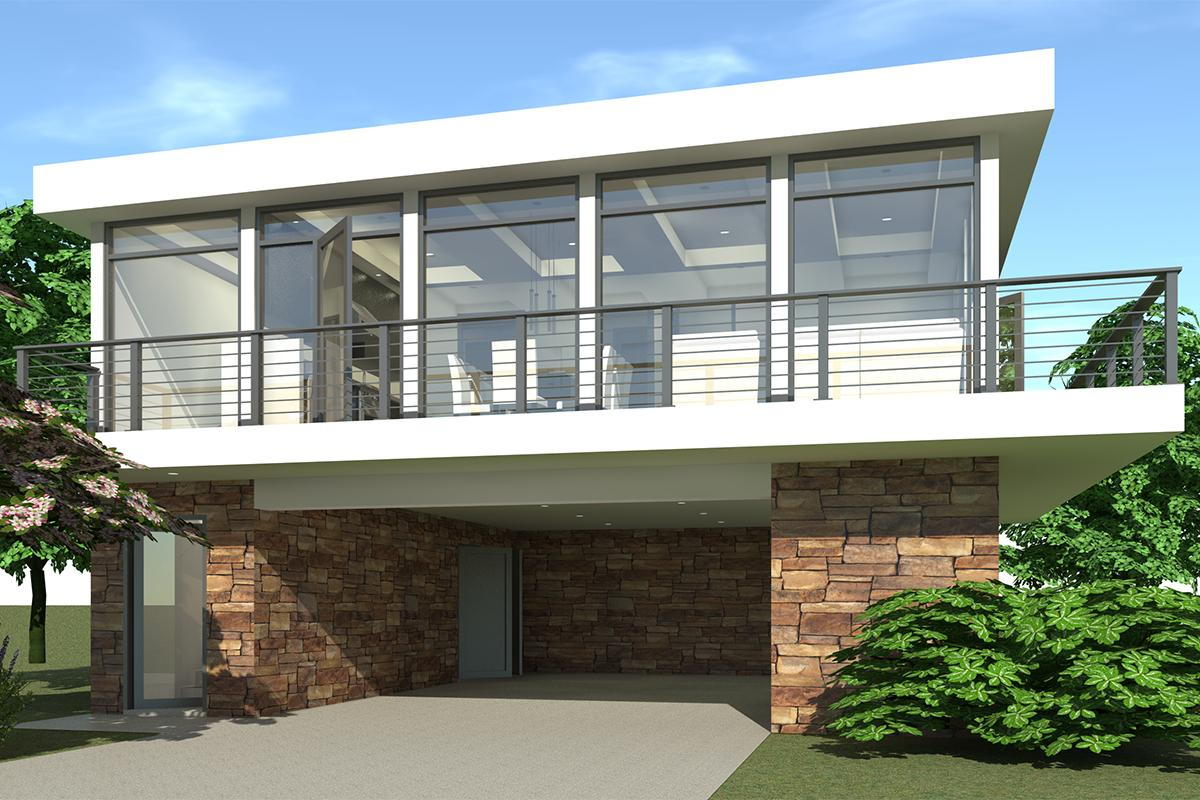 Drive Under House Plans  Home Designs with Garage Below