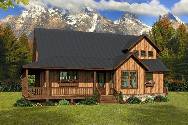 Cabin House Plans Mountain Home Designs Floor Plan