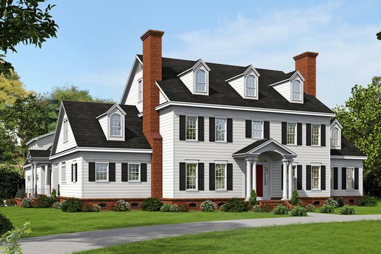 Colonial Plan 6858 Square Feet 6 Bedrooms 45
