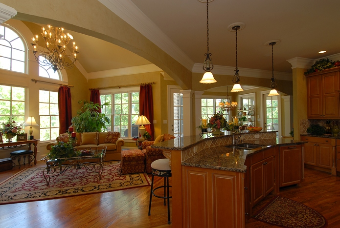 small open plan kitchen living room layout interior decor of america's best house plans blog