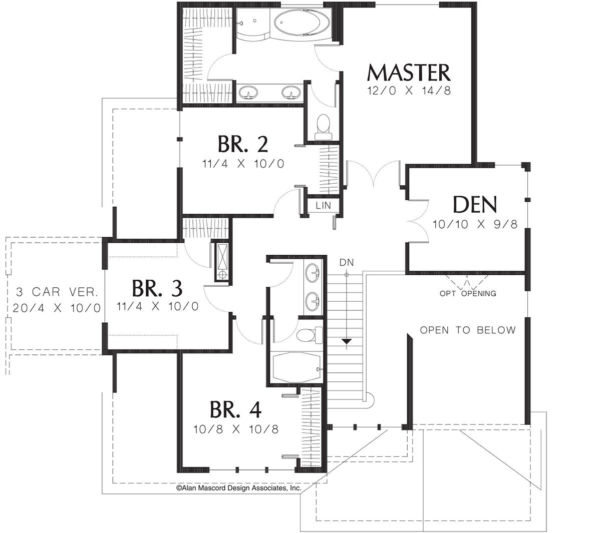 Bungalow Plan 2 173 Square Feet 4 Bedrooms 2 5
