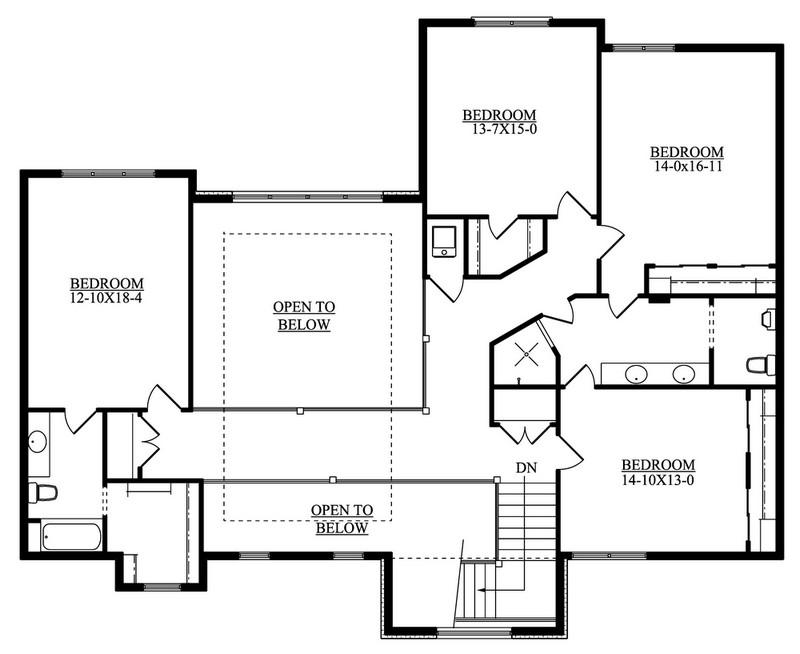 Craftsman Plan 6 837 Square Feet 6 Bedrooms 5 Bathrooms