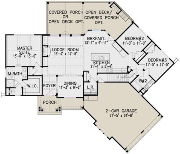 Lake House Designs Floor Plans