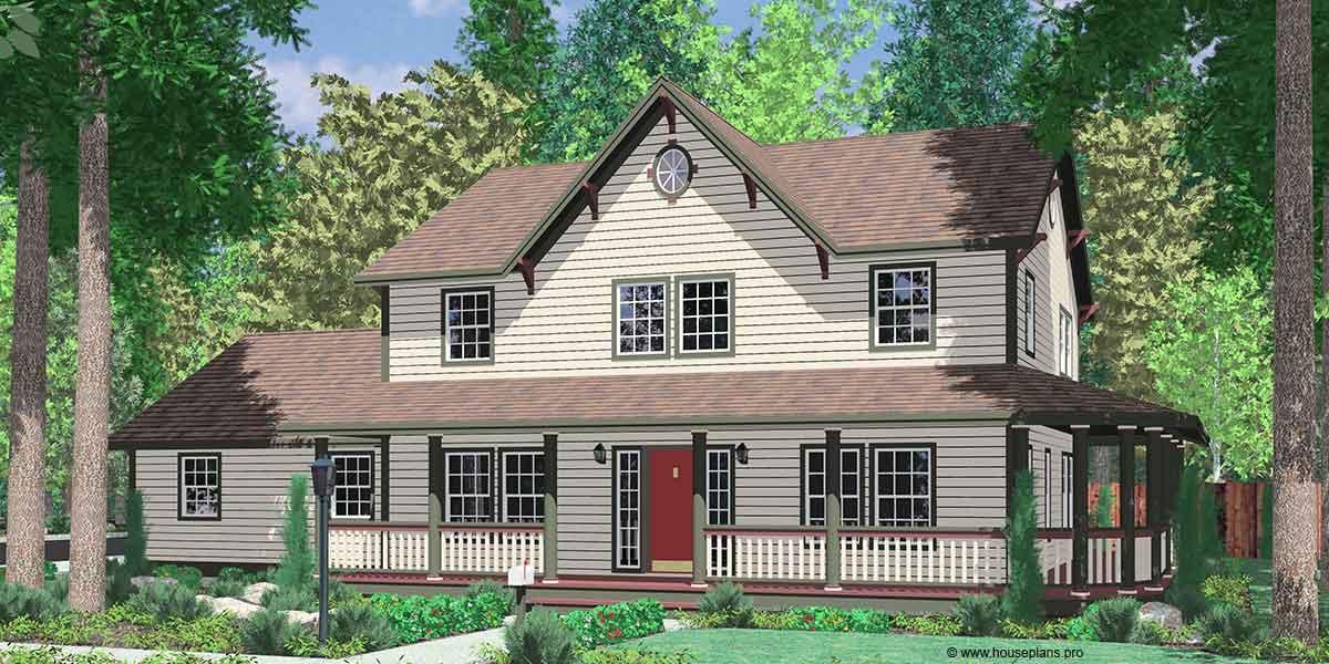 Amazing 9999 Basement #3: ... Country Farm House Plans House Plans With Wrap Around Porch House Plans  With Basement House Plans ...