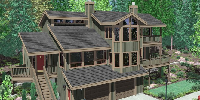 Lakefront House Plans Sloping Lot Amazing House Plans