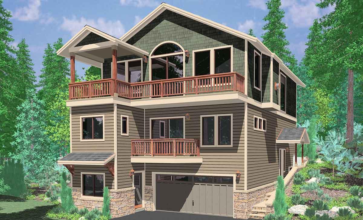 Unique Hillside House Plans with Walkout Basement