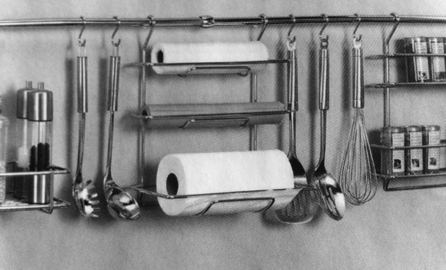 wall mounted kitchen utensil holder white chandelier storage solutions