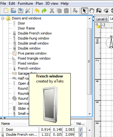 You just need to use the old door as a te. Free Floor Plan Software Sweethome3d Review
