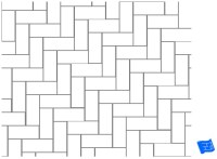 Diagonal Herringbone Tile Pattern | Tile Design Ideas