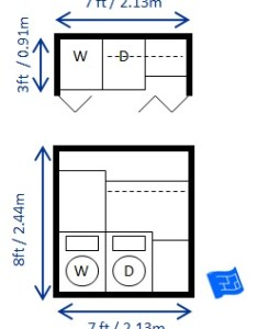 Laundry closet us unit also room dimensions rh houseplanshelper