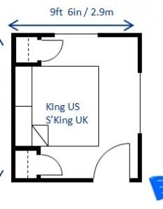 Minimum bedroom size for  king bed ft in  ft also rh houseplanshelper