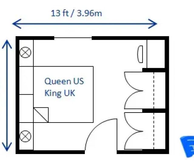 Small Bedroom Design Queen Ft