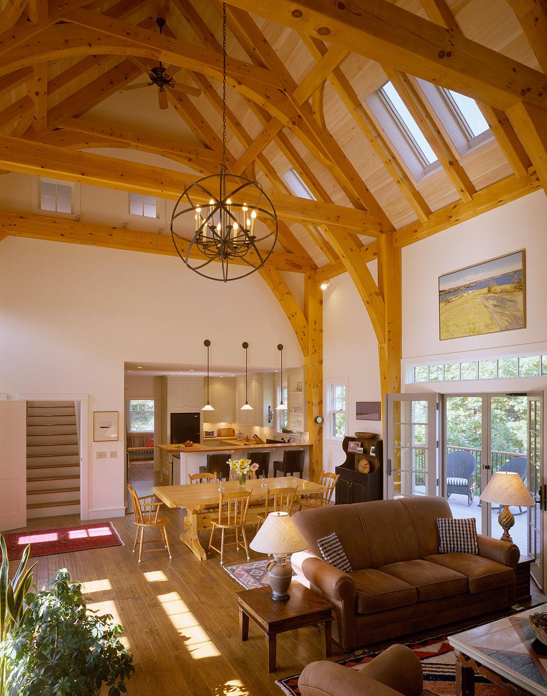 Houses and Barns  Timber Frame family home