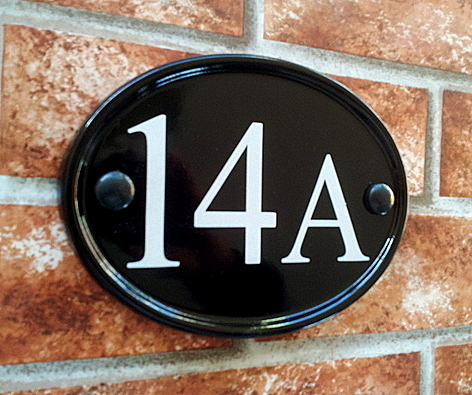 Small Oval House Number Sign 150mm x 115mm 59 inches x 4
