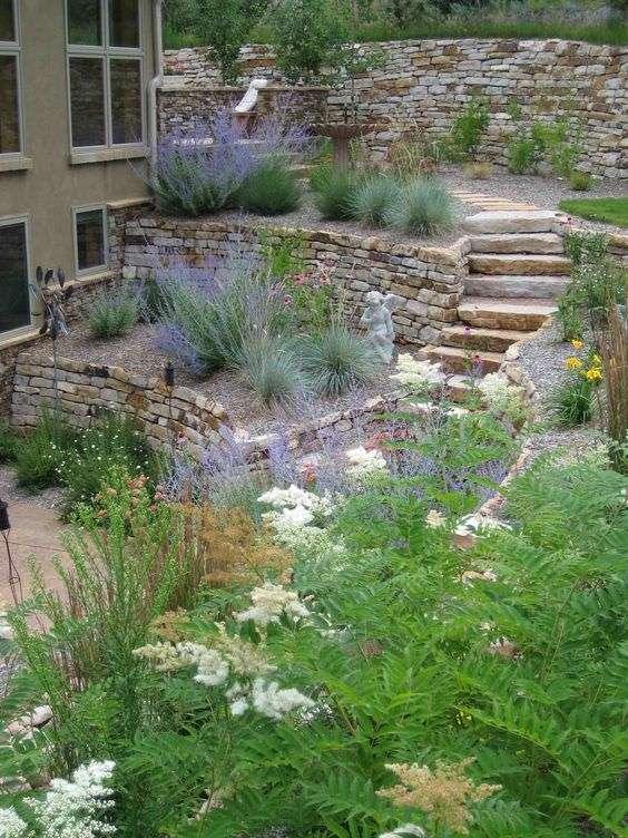 ideas landscaping hillside