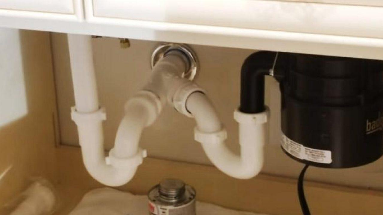 double kitchen sink plumbing