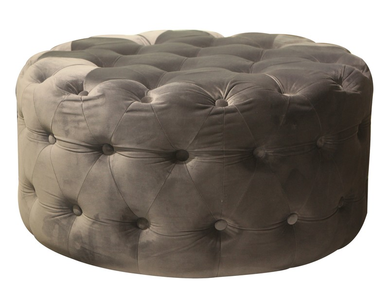 round stool with stitching big size
