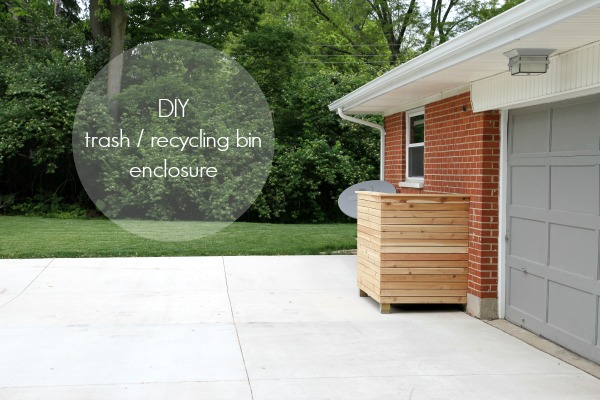 DIY trash enclosure text