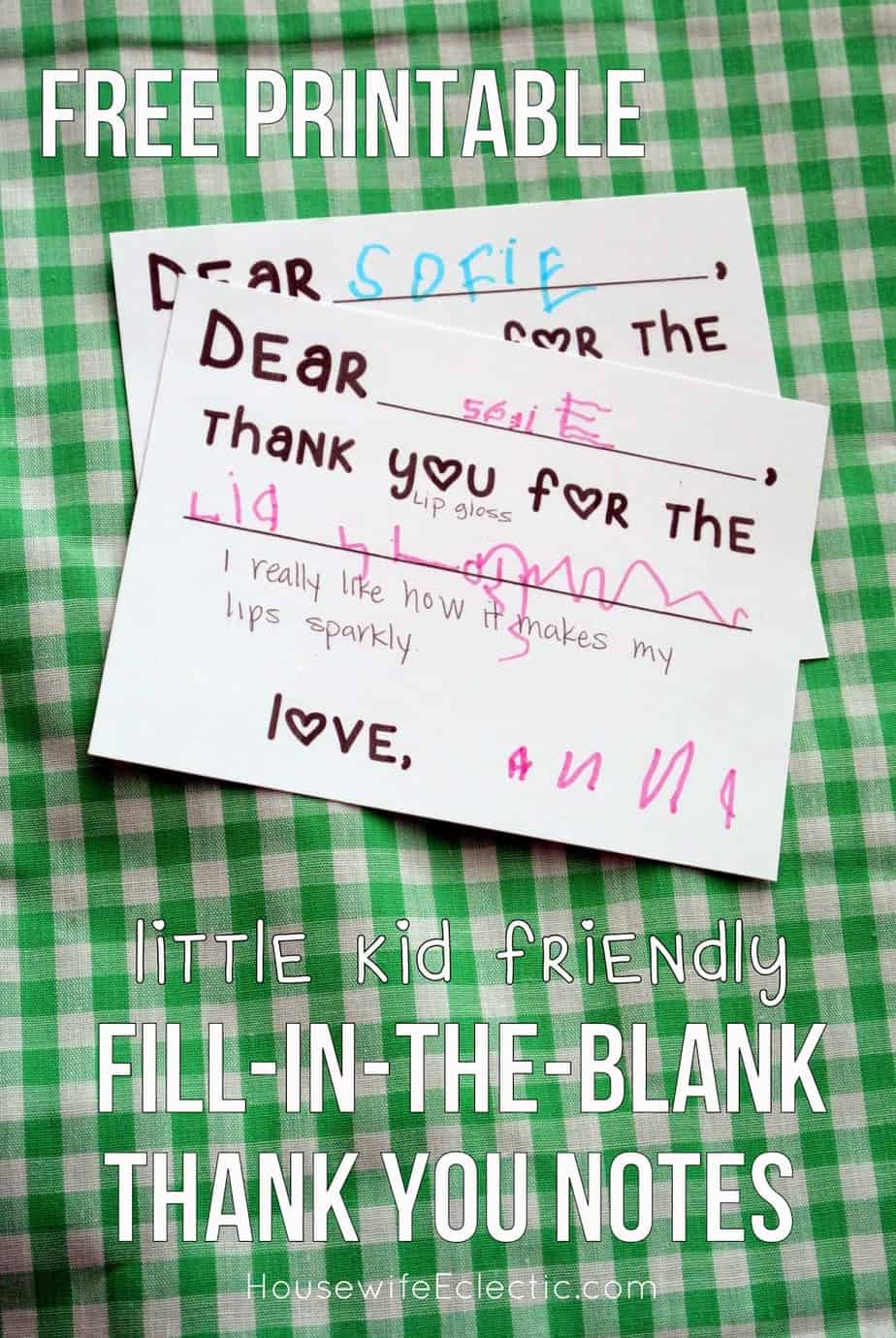 Free Printable Fill In The Blank Thank You Card For Little
