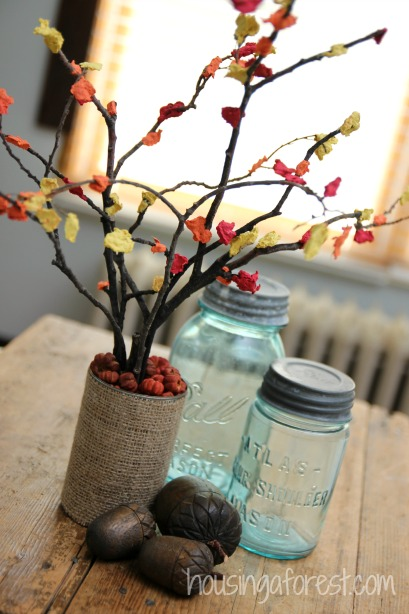 fall centerpiece craft for