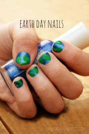 earth day nails housing forest