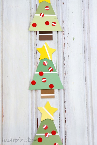 Paint Chip Christmas Tree Housing A Forest