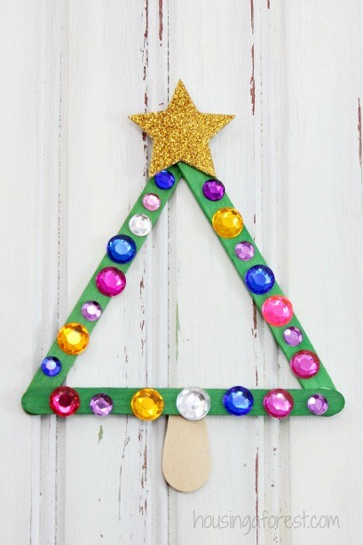 Art Christmas Projects Kids Tree