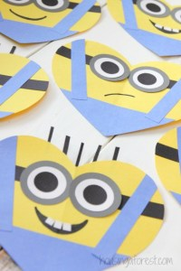 Valentines Day Heart Minion Craft | Housing a Forest