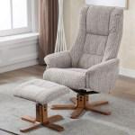 Madrid Fabric Swivel Recliner Chair Footstool